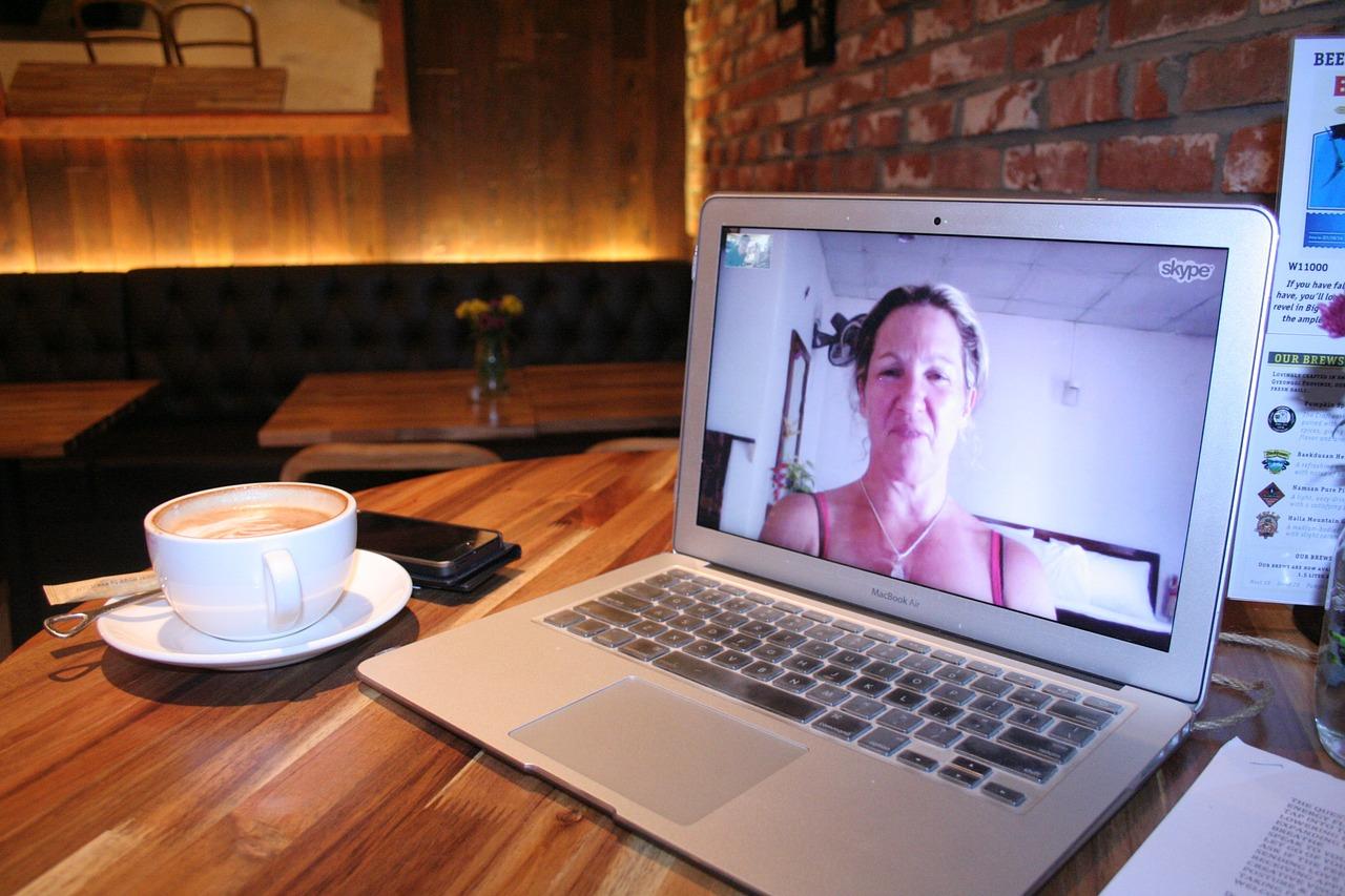 woman on skype